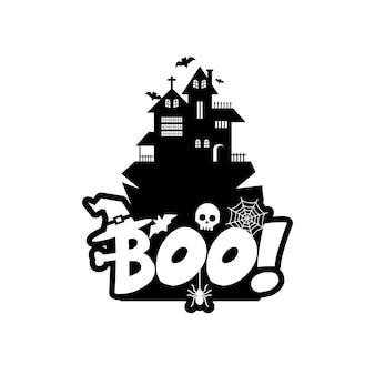 Boo typografie ontwerp vector