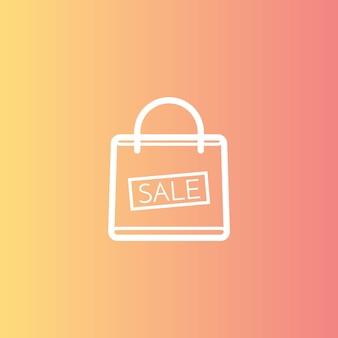Boodschappentas met de verkoop, kortingsymbool