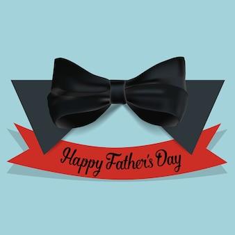 Boog stropdas met de achtergrond van het rode lint vaderdag