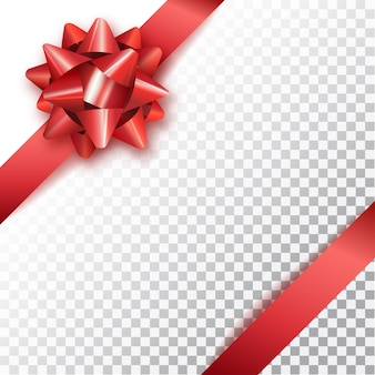 Boog voor het verpakken van geschenken geïsoleerd op transparante achtergrond