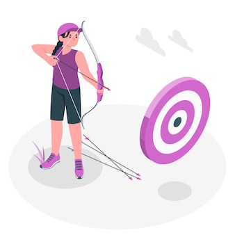 Boogschieten concept illustratie