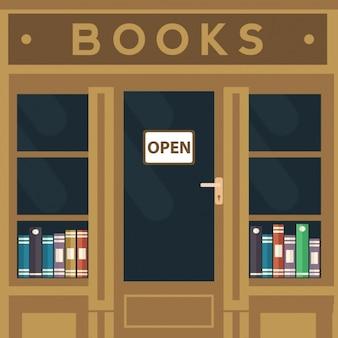 Bookshop achtergrond ontwerp