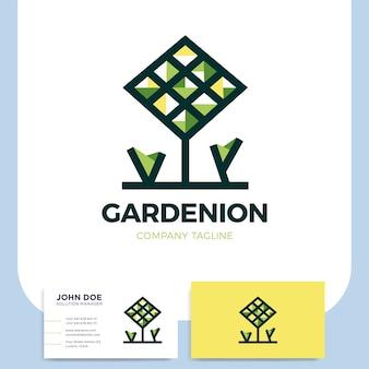 Boom bos eco groene milieu natuur vector logo pictogram.