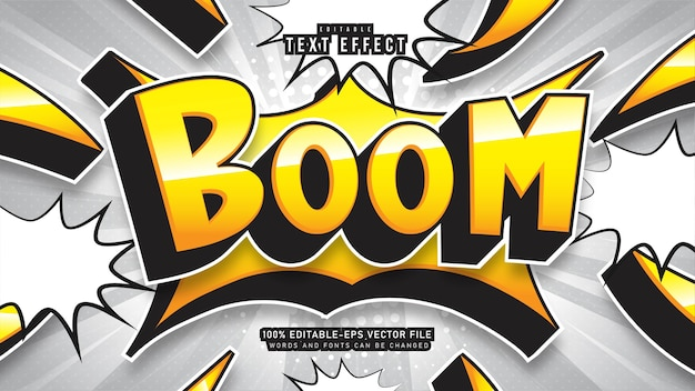 Boom cartoon teksteffect