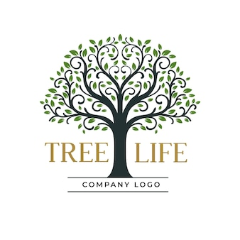 Boom leven bedrijf logo sjabloon
