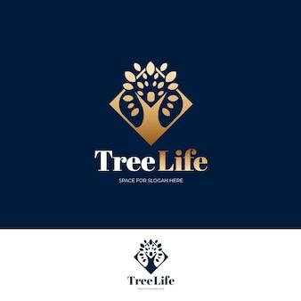 Boom leven logo sjabloon