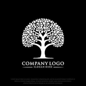 Boom logo inspiratie plat ontwerp
