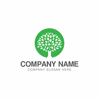 Boom logo ontwerpsjabloon