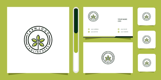 Boom pictogram. elementen. groene tuin logo sjabloon