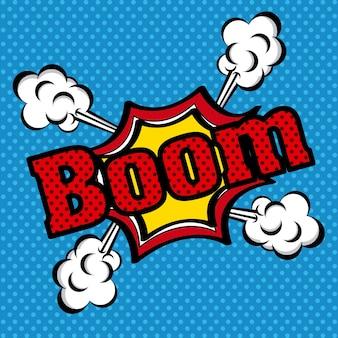 Boom strips pictogram