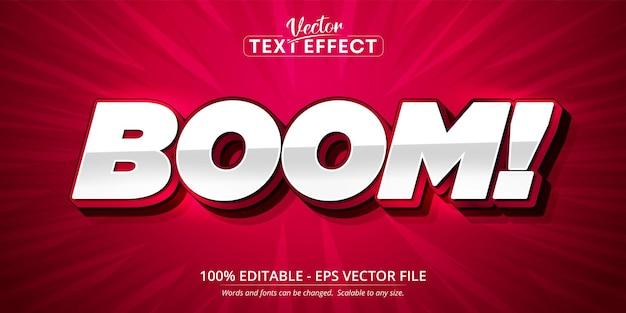 Boom-tekst, bewerkbaar teksteffect in cartoonstijl
