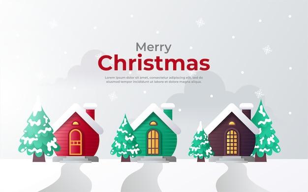 Boomhut in kerstmis