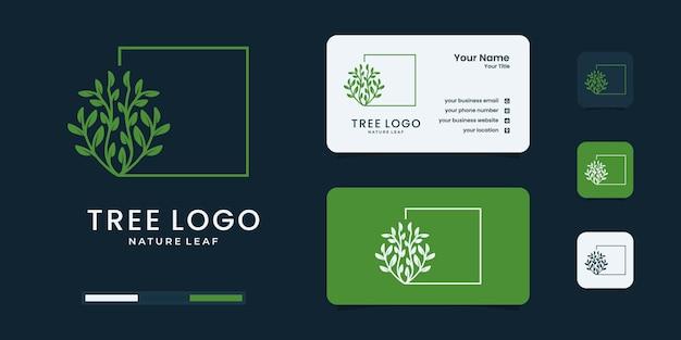 Boomlogo met uniek conceptontwerp. natuurlogo kan worden gebruikt voor uw bedrijf.