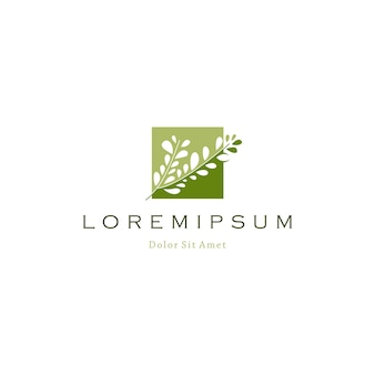 Boomtak blad logo pictogram vectorillustratie