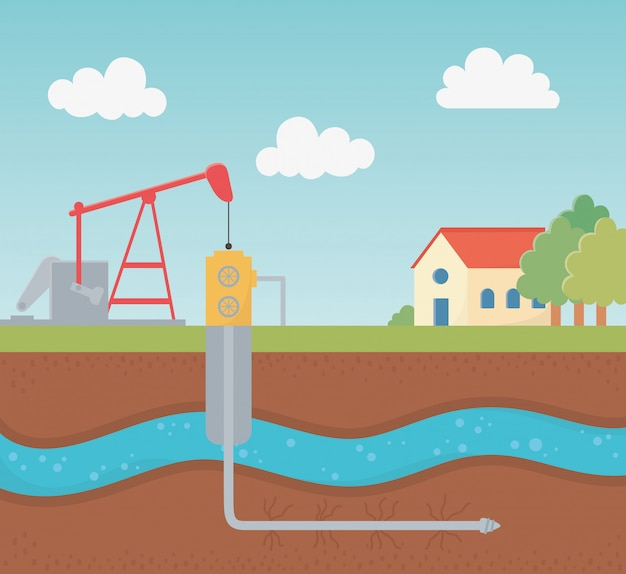 Booreiland tankproces exploratie fracking