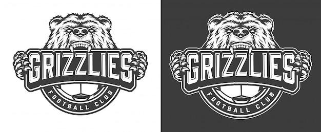 Boos beer voetbalclub mascotte label