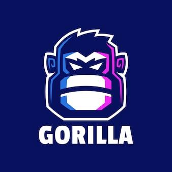 Boos gorilla hoofd logo ontwerp