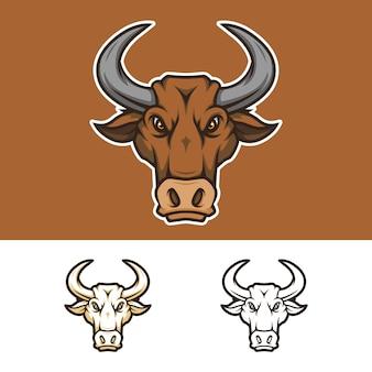 Boos hoofd mascotte logo