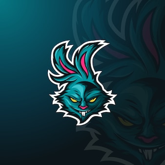 Boos konijn mascot logo e-sport