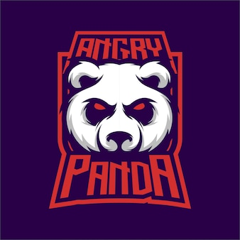 Boos panda logo mascot