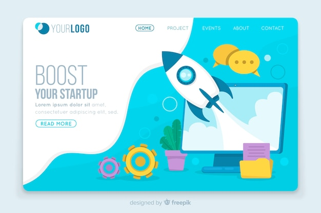 Boost startup landing page template