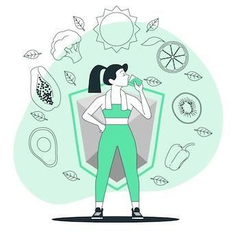Boost uw immuunsysteem concept illustratie