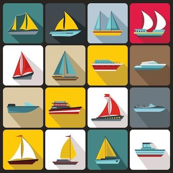 Boot en schip pictogrammen instellen