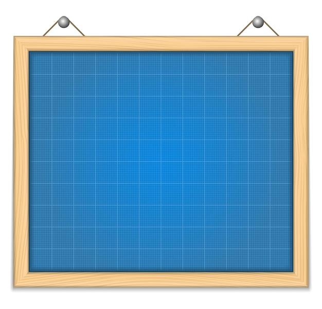 Bord met blauwdruk, illustratie
