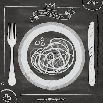 Bord vector italiaans eten menu