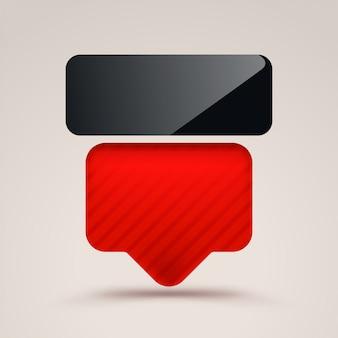 Bord zwart en rood