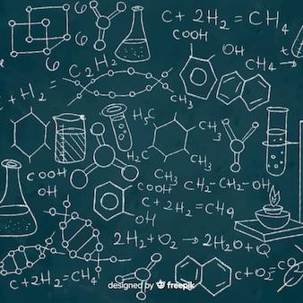 Bordachtergrond met chemieinformatie