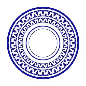 Bordontwerp, keramische decoratieve ronde sier islamitische stijl, mandala-achtergrond