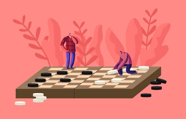 Bordspel intelligentie recreatie, hobby-illustratie