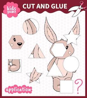 Bordspel voor kinderen in vorm gesneden en vastgelijmd voor werkbladen van kleuters en basisschoolleerlingen.