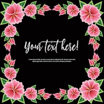 Borduurstijl uit oaxaca mexico - floral copy space-sjabloon