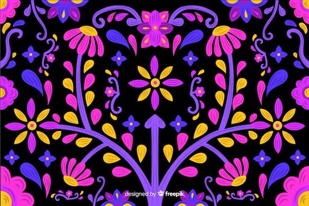 Borduurwerk bloemenachtergrond