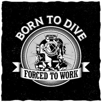 Born to dive-label