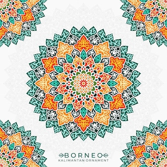 Borneo kalimantan ornament mandala-stijl