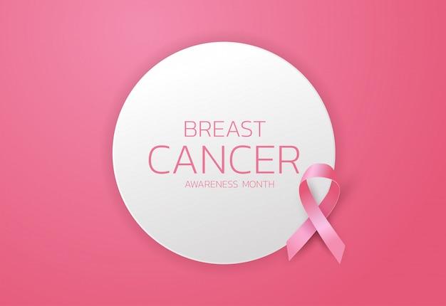 Borst kanker bewustzijn lint achtergrond