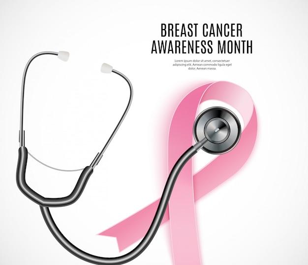 Borst kanker bewustzijn maand roze lint