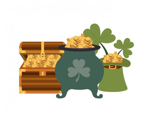 Borst met munten geïsoleerd pictogram