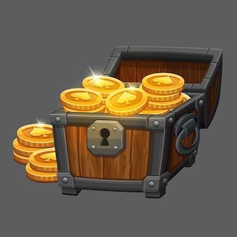 Borst met munten
