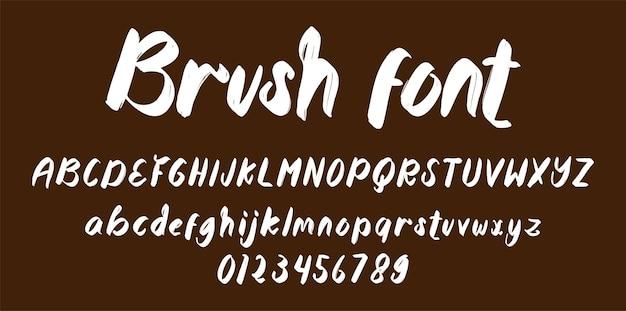Borstel lettertype alfabet