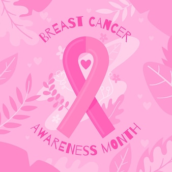 Borstkanker bewustzijn achtergrond