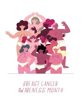 Borstkanker bewustzijn belettering