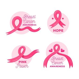 Borstkanker bewustzijn maand badges collectie