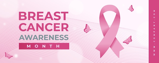 Borstkanker bewustzijn maand banner