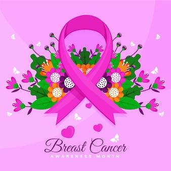 Borstkanker bewustzijn maand concept