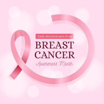 Borstkanker bewustzijn maand sjabloon voor spandoek
