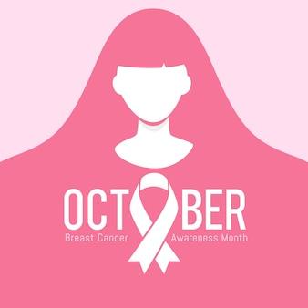 Borstkanker bewustzijn maand vectorillustratie
